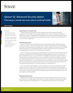 Advanced Security Option